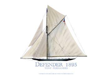 1895 Defender - signed print